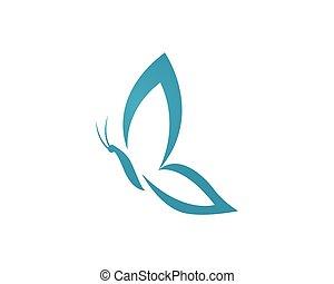 logotipo, borboleta