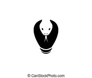 logotipo, cabeça, cobra, modelo