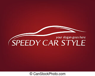 logotipo, calligraphic, car