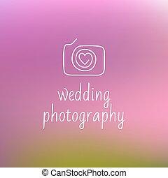logotipo, casório, fotografia