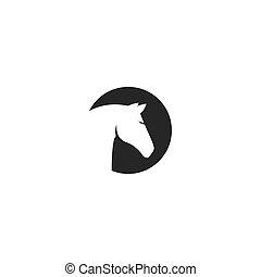 logotipo, cavalo