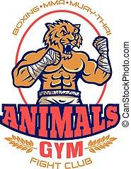 logotipo, clube, luta