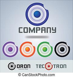 logotipo, companhia, alvo, círculo, desenho