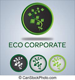 logotipo, companhia, ecologia, desenho