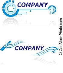 logotipo, companhia, modernos
