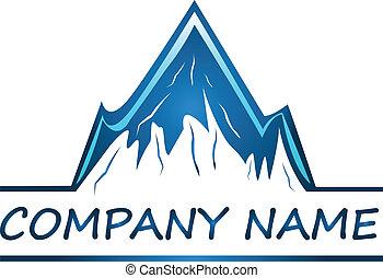 logotipo, companhia, vetorial, montanhas