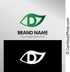 logotipo, conceito, desenho, ícone, folha