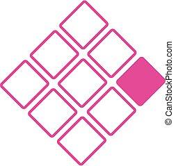 logotipo, conceito, nove, quadrados, negócio