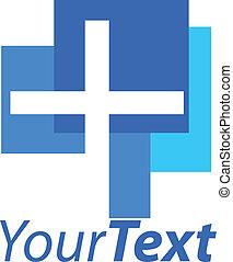 logotipo, crucifixos