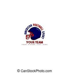 logotipo, desenho, futebol, americano
