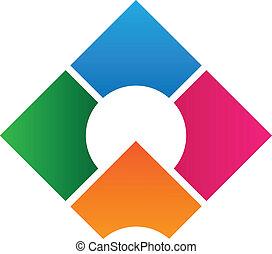 logotipo, desenho, incorporado, modelo