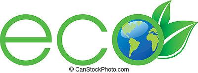 logotipo, ecologia, verde
