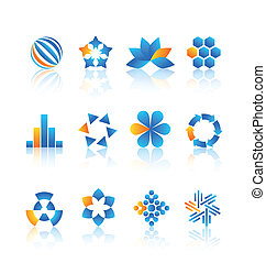 logotipo, elementos, desenho