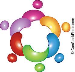 logotipo, equipe, flor