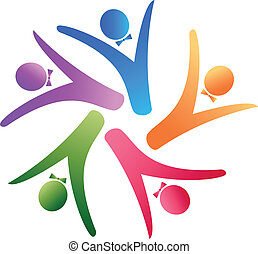 logotipo, equipe, negócio, social
