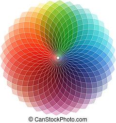 logotipo, espectro