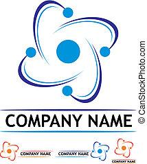logotipo, estação, poder, nuclear