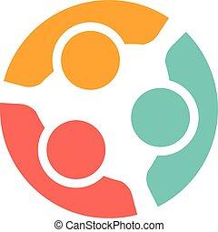 logotipo, família, pessoas