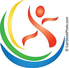logotipo, figura, condicão física