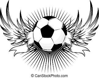 logotipo, futebol