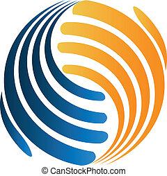 logotipo, handshaking, negócio