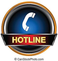 logotipo, hotline