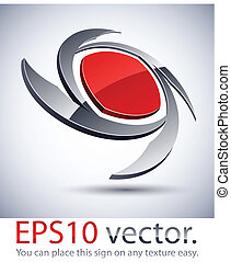 logotipo, icon., lâmina, modernos, 3d