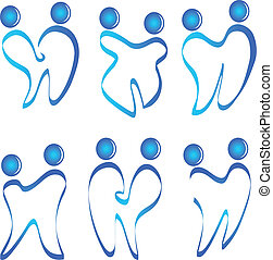 logotipo, jogo, vetorial, figuras, dentes