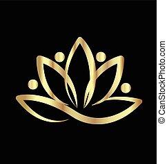 logotipo, loto, ioga