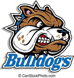 logotipo, má, buldogue