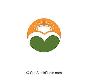 logotipo, montanha, ícone, negócio