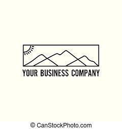 logotipo, montanha, minimalista