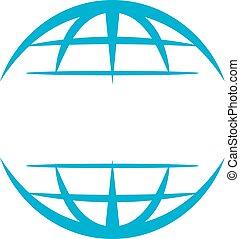 logotipo, mundo, modelo