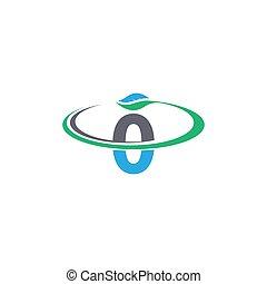 logotipo, número, folha, ícone, 0, desenho, conceito