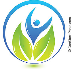 logotipo, natureza, saúde, pessoas