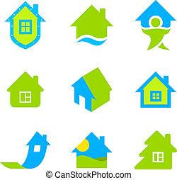 logotipo, propriedade, real, cobrança