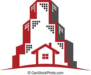 logotipo, propriedade, real, conceito