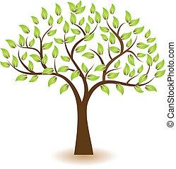 logotipo, símbolo, vetorial, árvore