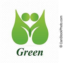 logotipo, saúde, natureza