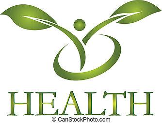 logotipo, saudável, vetorial, vida