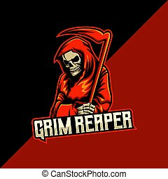 logotipo, severo, modelo, reaper, mascote