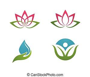 logotipo, stylized, loto