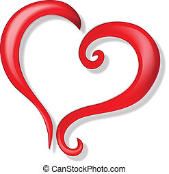 logotipo, vetorial, ame coração
