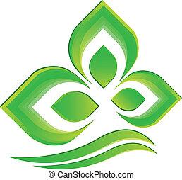 logotipo, vetorial, planta verde
