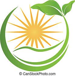 logotipo, vetorial, saúde, natureza