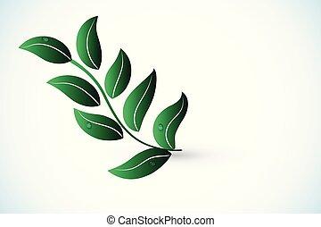 logotipo, vetorial, saúde, natureza, folha