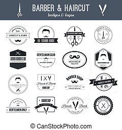 logotipos, barbeiro