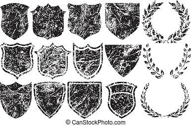 logotipos, elementos, grunge