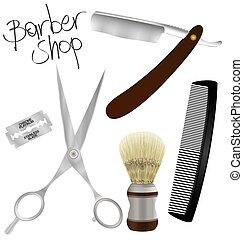 loja, barbeiro