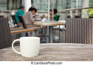 loja, copo, café